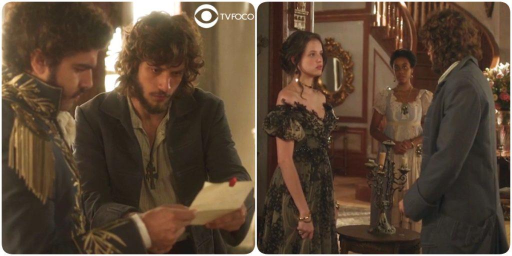 Joaquim tenta alertar Pedro em Novo Mundo e prepara armadilha para Domitila