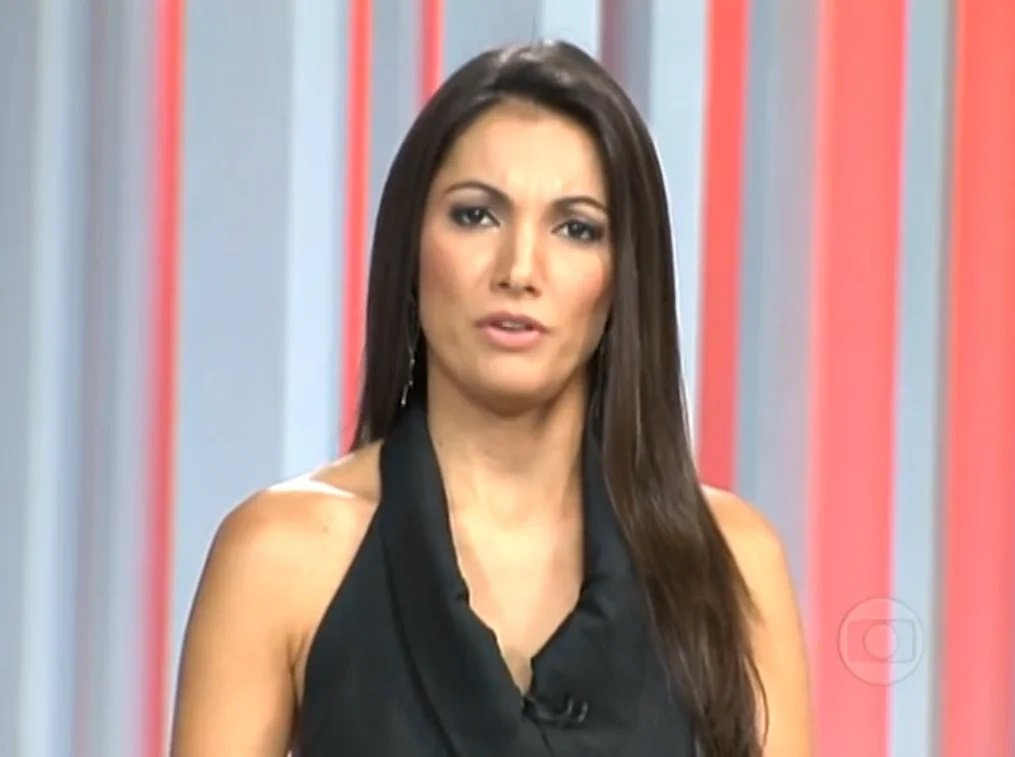 Patrícia Poeta no 'Fantástico' após retornar para a Globo (Foto: reprodução/Globo)