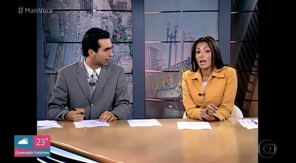 A jornalista no comando do 'SPTV - 1° edição' (Foto: reprodução/Globo)