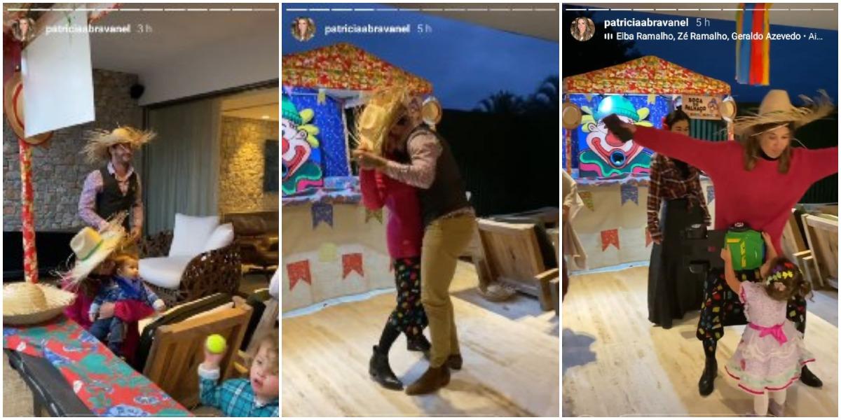 Rebeca Abravanel e Pato marcaram presença no arraiá de Patrícia e Fábio Faria (Foto: Reprodução/ Instagram)
