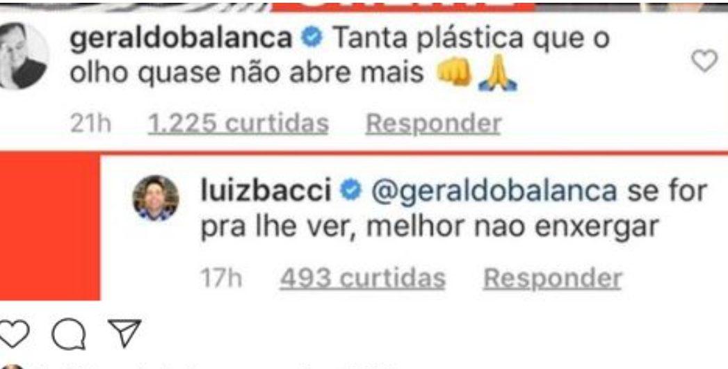 Luiz Bacci rebate Geraldo Luís (Foto: Reprodução)
