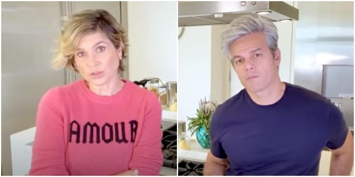 Flávia Alessandra e Otaviano Costa (Foto: Reprodução)