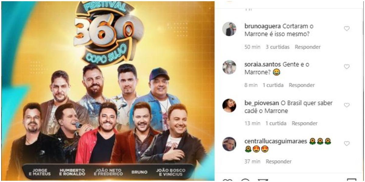 Bruno fará live sem Marrone (Foto: Reprodução)