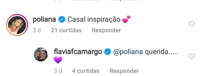 Poliana Rocha, esposa de Leonardo, elogiou o amor de Flávia Fonseca e Luciano Camargo (Reprodução)