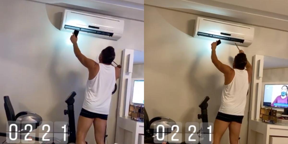 Esposa do famoso cantor sertanejo Leonardo, Poliana Rocha flagra marido em situação constrangedora e expõe tudo nas redes sociais (Foto: Reprodução/Instagram/Montagem TV Foco)