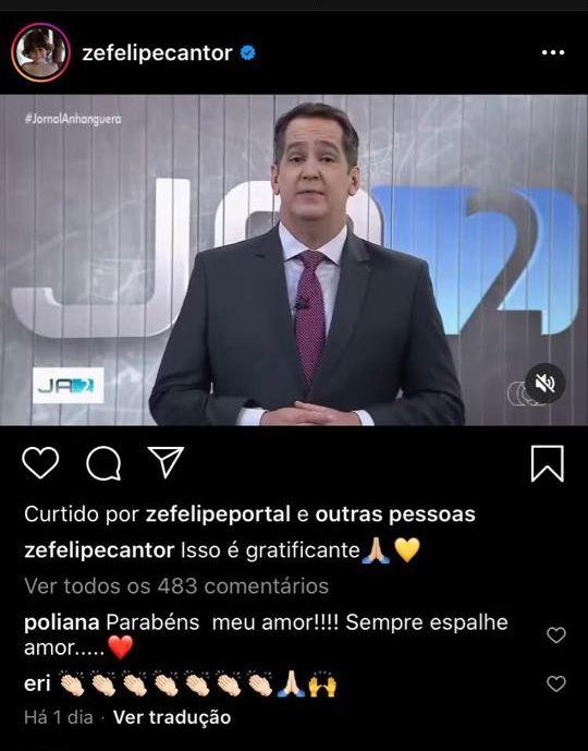 Zé Felipe virou motivo de elogio por parte de sua mãe, Poliana Rocha (Foto: Reprodução/Instagram)