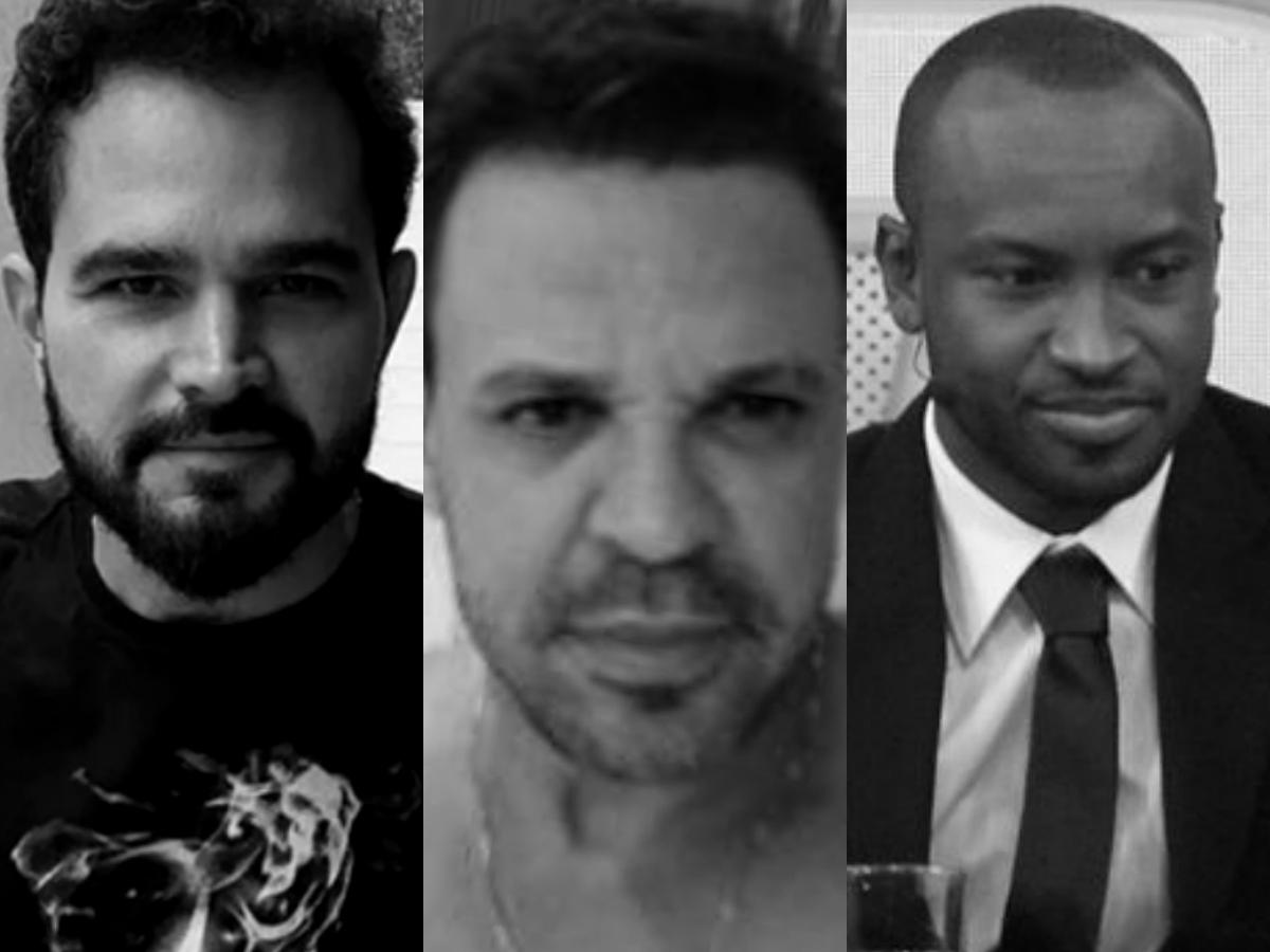 Sensitivas fazem previsões arrasadoras para Luciano Camargo, Eduardo Costa e Thiaguinho com Fernanda Souza (Foto: Reprodução/Montagem TV Foco)