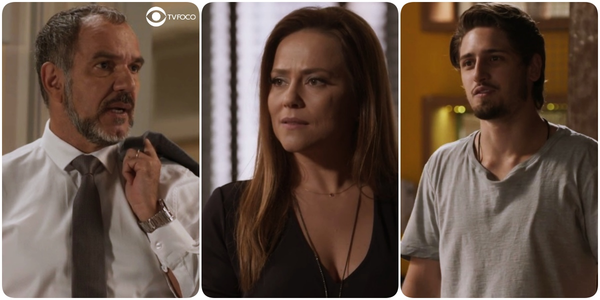 Germano (Humberto Martins), Lili (Vivianne Pasmanter) e Rafael (Daniel Rocha) em Totalmente Demais (Foto: Reprodução/Globo)