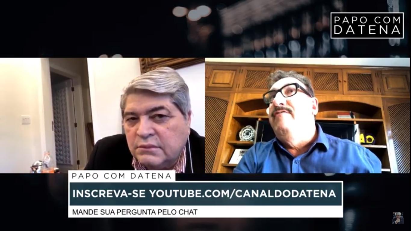 Datena e Ratinho em transmissão ao vivo (Foto: reprodução/Youtube)