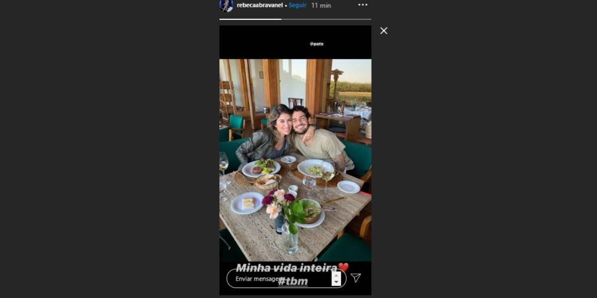 Rebeca Abravanel e Pato em momento romântico (Foto: Reprodução/Instagram)