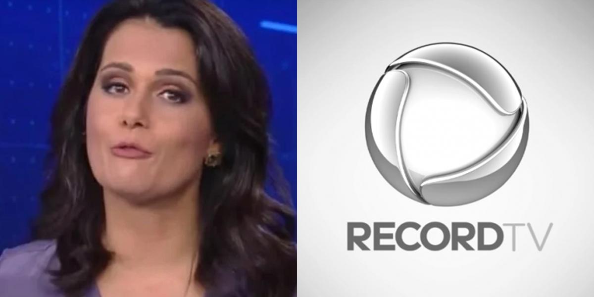 Adriana Araújo, que foi tirada do Jornal da Record; no mesmo dia, emissora anunciou demissões (Foto: Reprodução/Record)