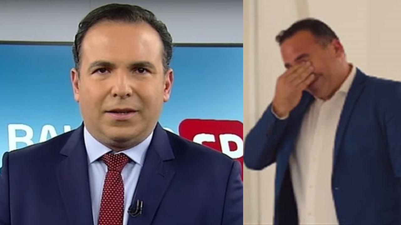 Reinaldo Gottino fez troca (Foto: Reprodução/Record/CNN Brasil)