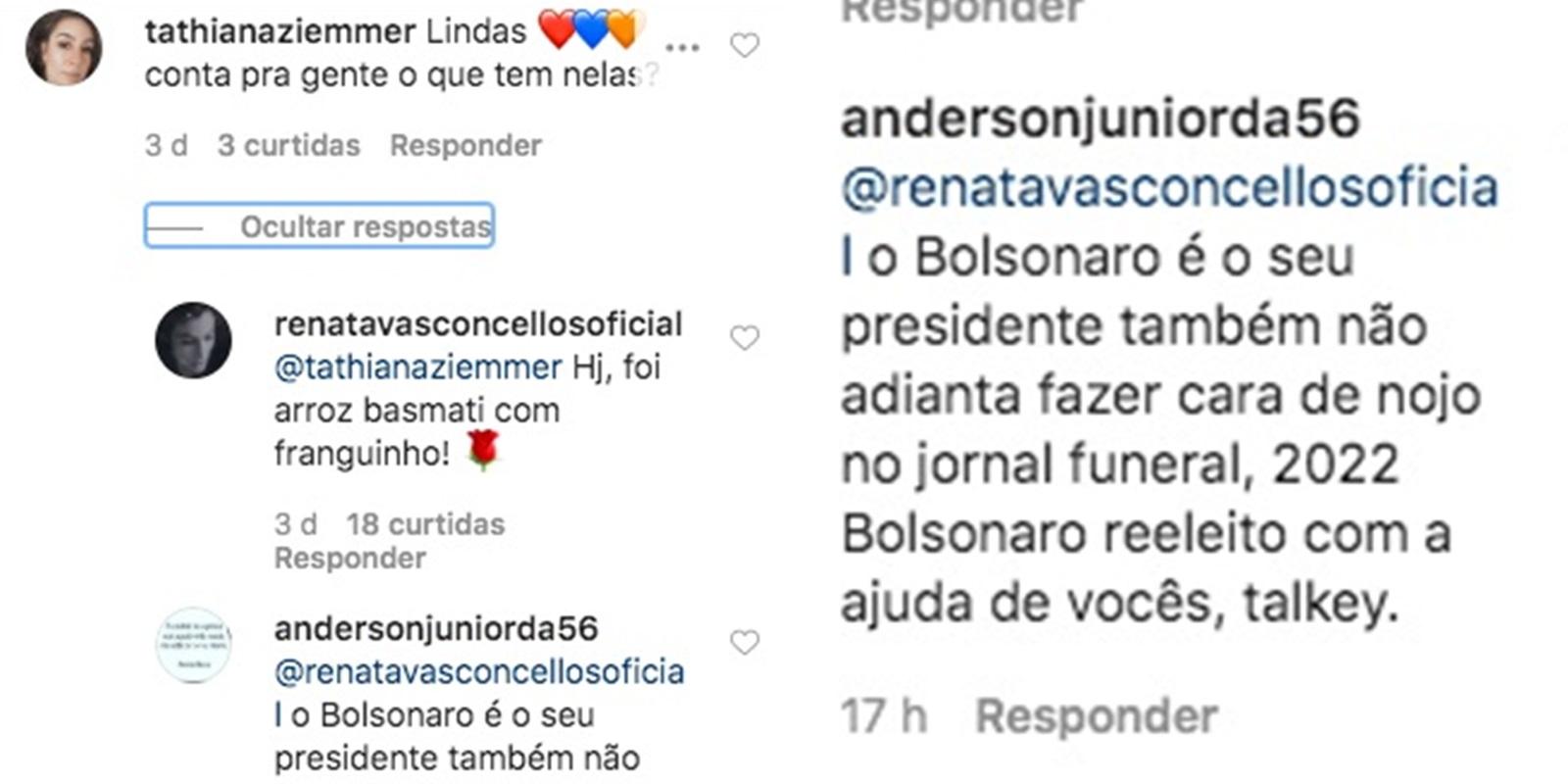 Renata Vasconcellos respondeu um comentário sobre sua marmita (Foto: reprodução/Instagram)