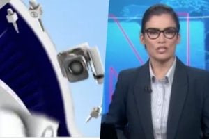 Renata Vasconcellos entrou às presas na programação da Globo com bomba (Foto montagem)