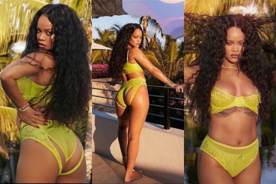 Fotos compartilhadas pelo perfil de Rihanna (Foto: Reprodução)