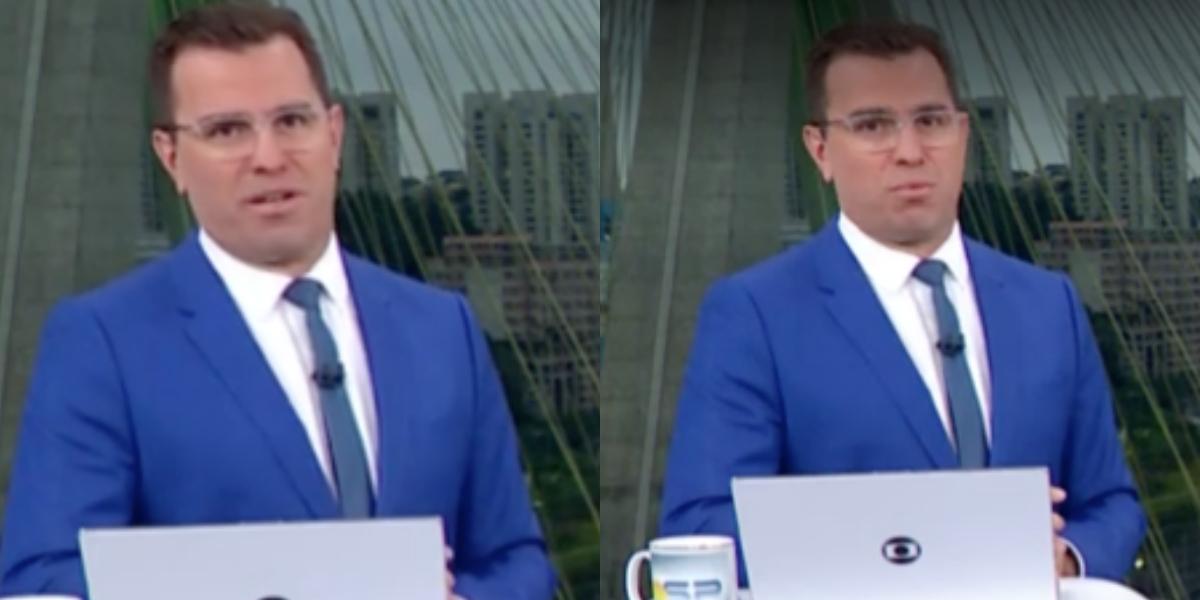 O famoso âncora do Bom Dia São Paulo da Globo, Rodrigo Bocardi (Foto: Reprodução/Montagem TV Foco)