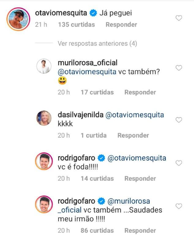 Rodrigo Faro foi desmascarado por apresentador do SBT e ator da Globo (Foto: Reprodução/ Instagram)