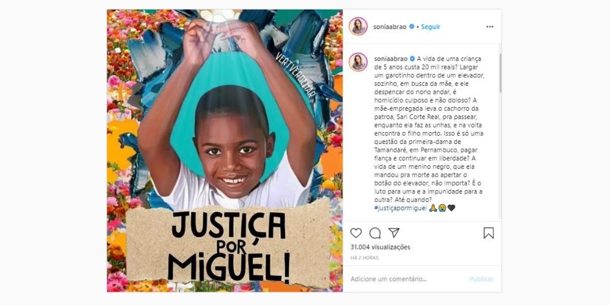 Post compartilhado por Sonia Abrão (Foto: Reprodução/Instagram)