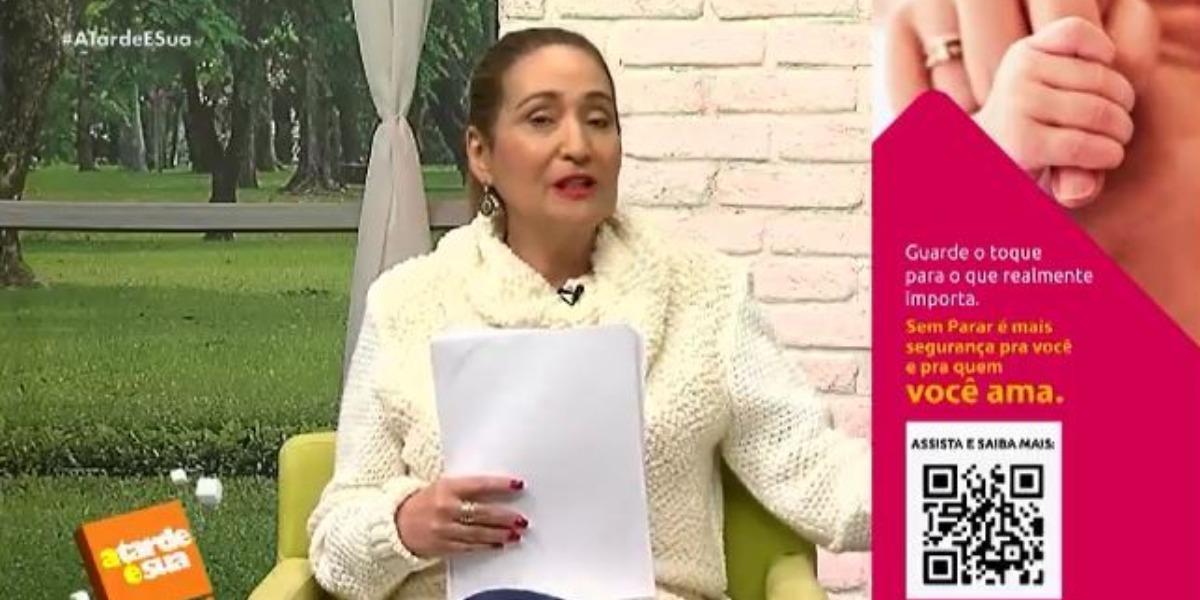 Sonia Abrão no A Tarde é Sua de hoje (Foto: Reprodução/RedeTV!)