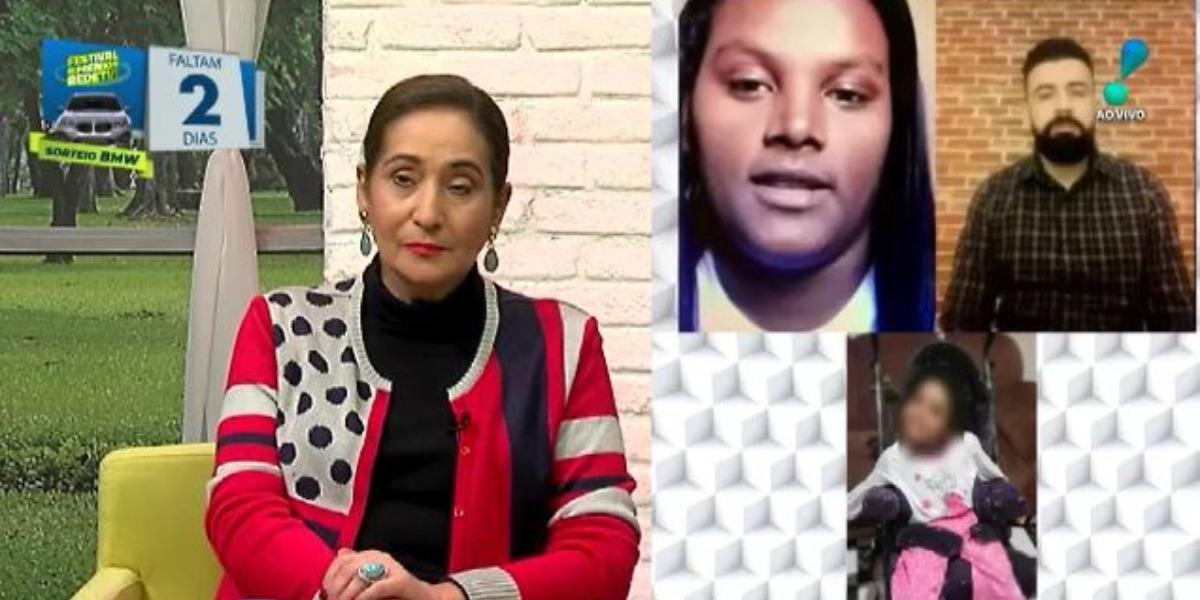 Sonia Abrão recebeu entrevista de Renata, possível filha de Luiz Carlos (Foto: Reprodução/RedeTV!)