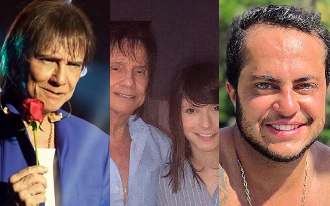 Tamara Angel, tida como namorada de Roberto Carlos, já tretou com Thammy Miranda (Foto: Montagem TV Foco)