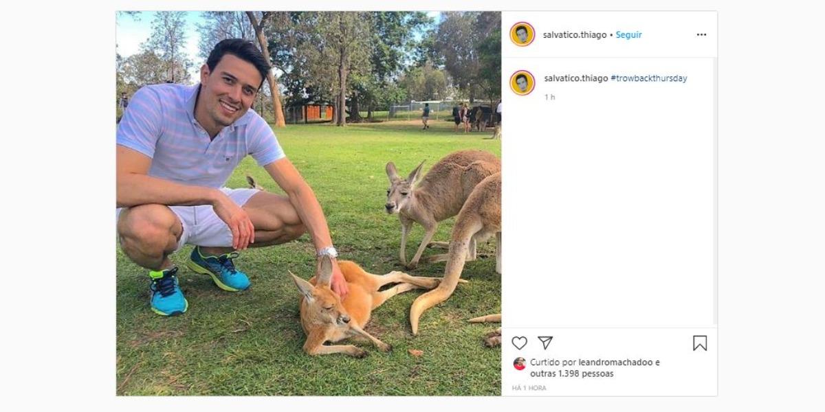 Thiago Salvático compartilhou clique antigo (Foto: Reprodução/Instagram)