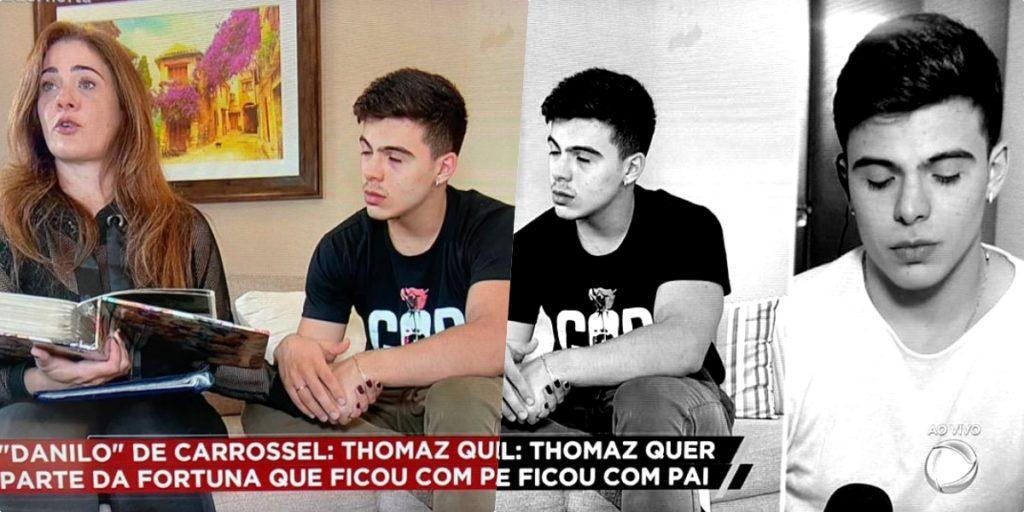 Luiz Bacci mostrou Thomaz Costa e escândalo envolvendo o pai do ator (Foto montagem)