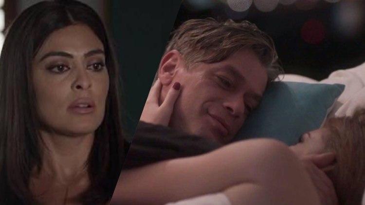 Totalmente Demais vai pegar fogo depois que Carol flagrar Eliza e Arthur juntos na cama, após plano do Jojo (Montagem: TV Foco)