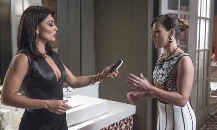 Carolina vai se envolver em um grande escândalo com Germano em Totalmente Demais (Montagem: TV Foco)