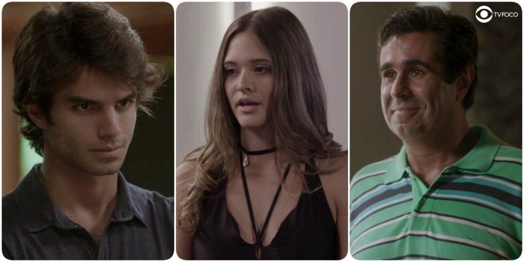 Destinos de Fabinho, Cassandra e Hugo se entrelaçaram em Totalmente Demais