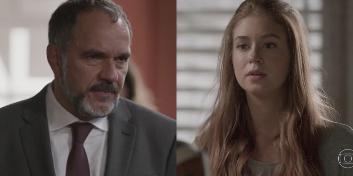 Germano (Humberto Martins) descobre que é pai de Eliza (Marina Ruy Barbosa) em Totalmente Demais (Foto: Reprodução/Globo)