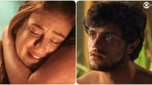 Eliza (Marina Ruy Barbosa) ficará desesperada com Jonatas (Felipe Simas) à beira da morte em Totalmente Demais (Foto: Reprodução/Globo)