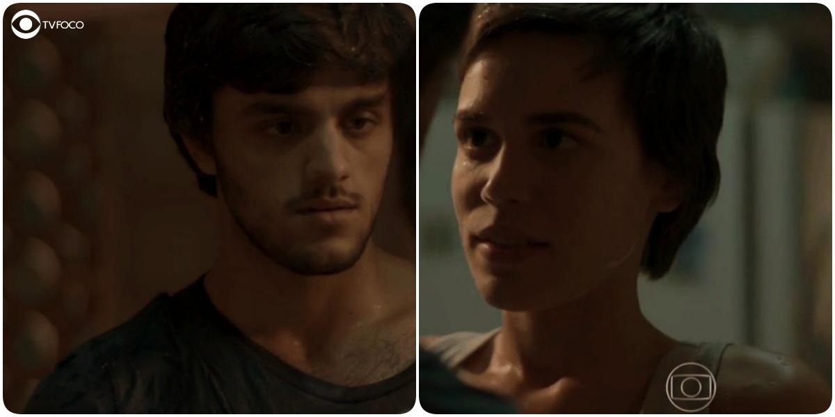 Leila e Jonatas se encaram bem de perto e clima explode em Totalmente Demais