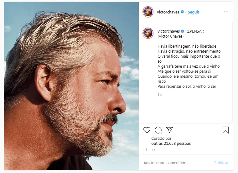 Victor Chaves resolveu refletir sobre libertinagem em seu Instagram (Foto: reprodução)
