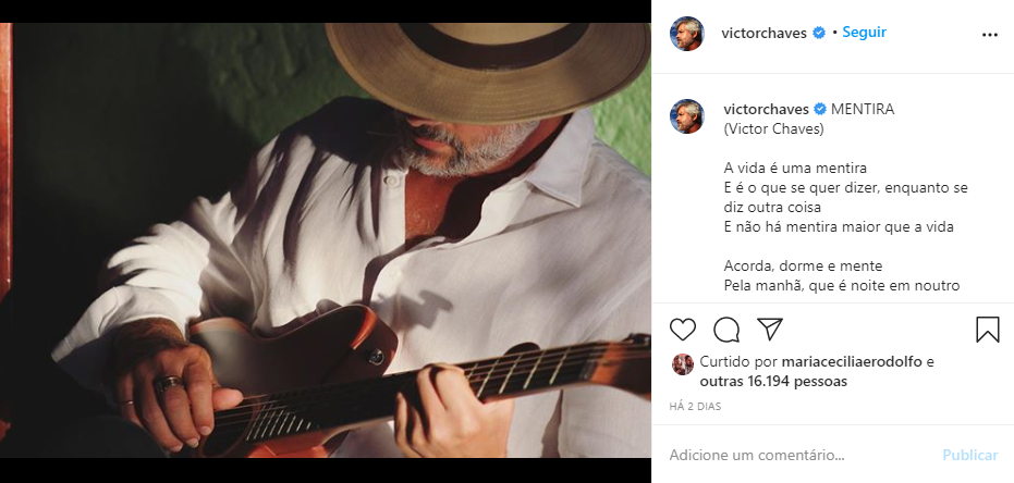 Victor Chaves fez textão após revelar tentativa de suicídio (Foto: Reprodução/ Instagram)