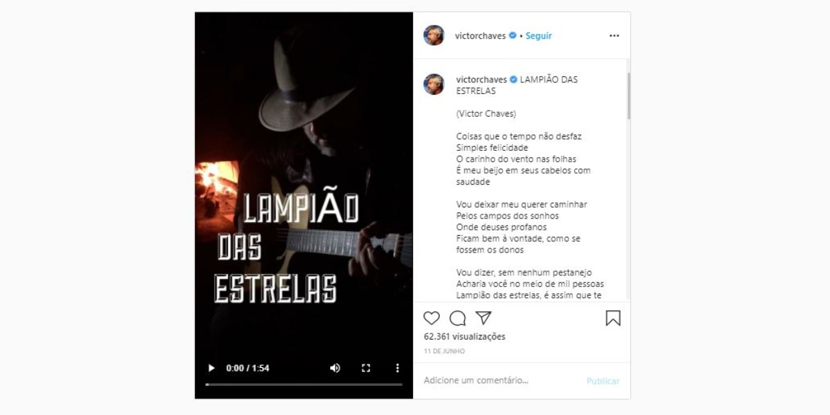 Victor Chaves lançou música solo (Foto: Reprodução/Instagram)