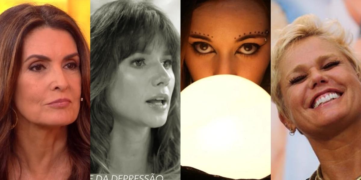 Sensitiva fez novas previsões para Fátima Bernardes, Xuxa e Paula Fernandes (Foto montagem: TV Foco)