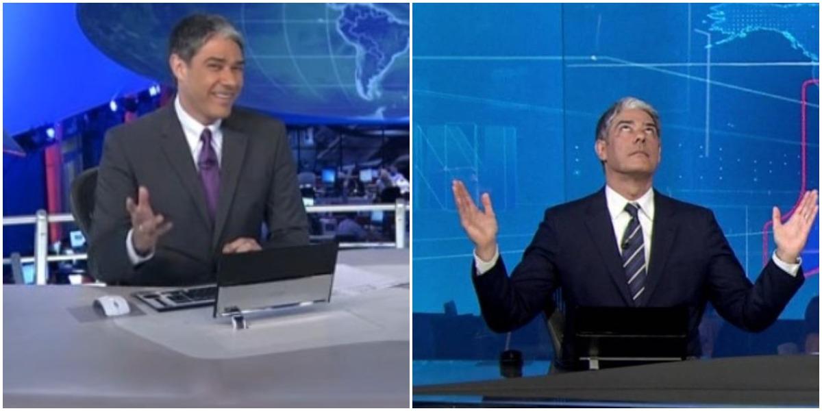 William Bonner na bancada do JN da Globo (Reprodução)