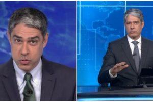O âncora da Globo, William Bonner diz torcer para que gafanhotos não cheguem ao Brasil (Reprodução)