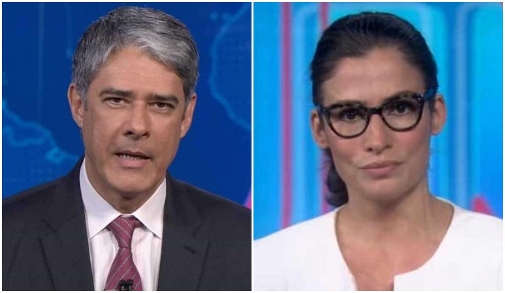 William Bonner e Renata Vasconcellos comandam o Jornal Nacional - Foto: Montagem