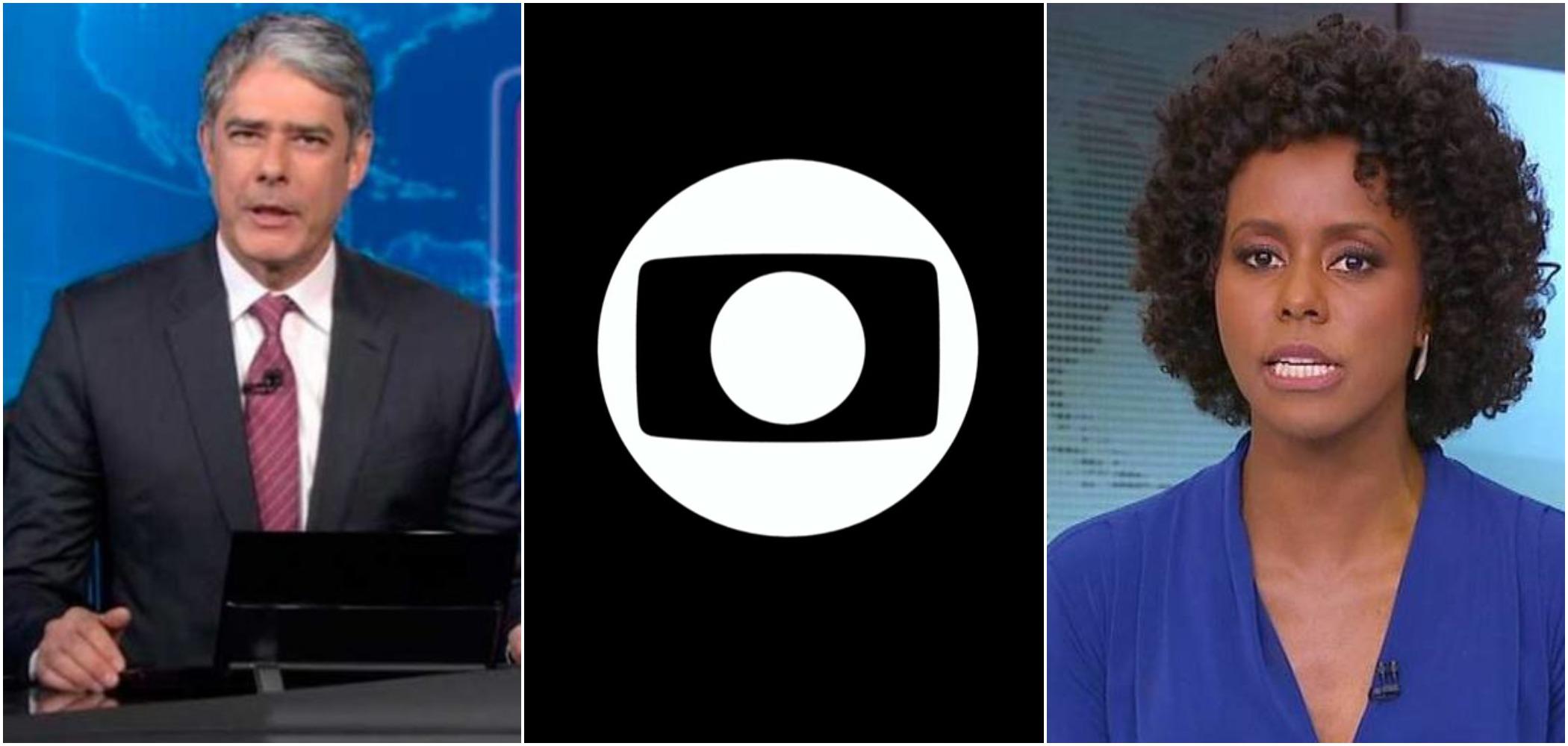 Os apresentadores de telejornais da Globo William Bonner e Maju Coutinho