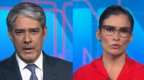 Wiiliam Bonner e Rena Vasconcellos comentaram declarações do presidente sobre a Globo