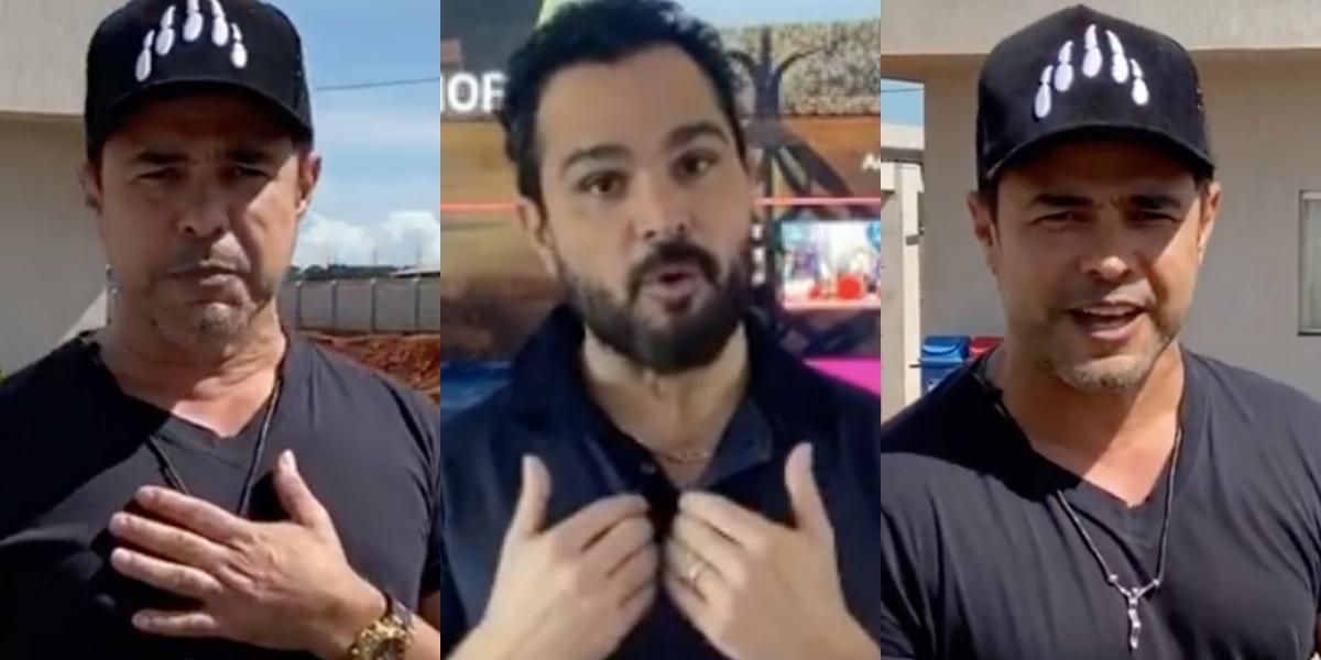 O famoso cantor sertanejo, que faz dupla com Luciano, Zezé Di Camargo é envolvido em polêmicas (Foto: Reprodução/Montagem TV Foco)