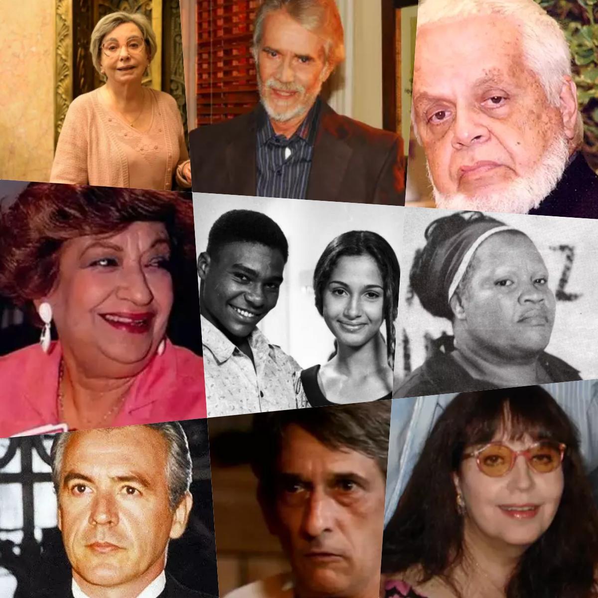 Atores da novela Vale Tudo que já morreram (Foto: Montagem/TV Foco)