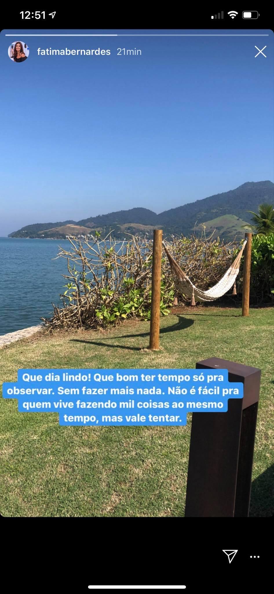 Fátima Bernardes fez desabafo nas redes sociais (Foto: Reprodução/Instagram)