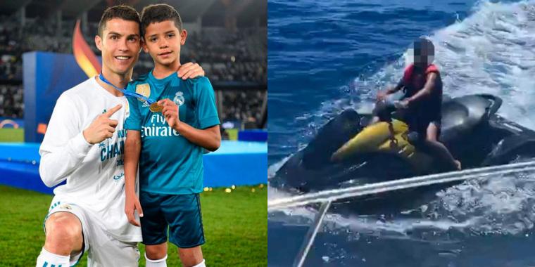 Filho de Cristiano Ronaldo é flagrado pilotando jet ski e investigação contra atacante da Juventus é aberta (Foto: Reprodução)