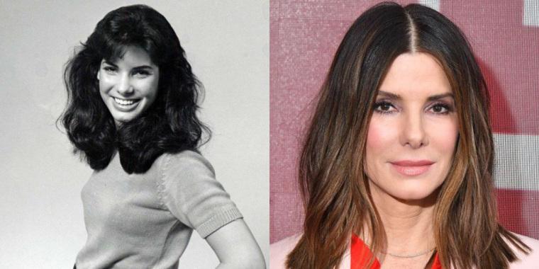 Sandra Bullock antes e depois (Foto: Reprodução)
