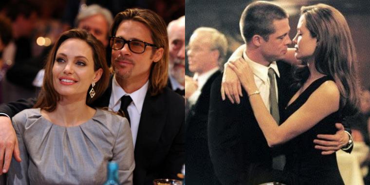 Saiba como a história de amor entre Brad Pitt e Angelina Jolie iniciou (Foto: Reprodução)