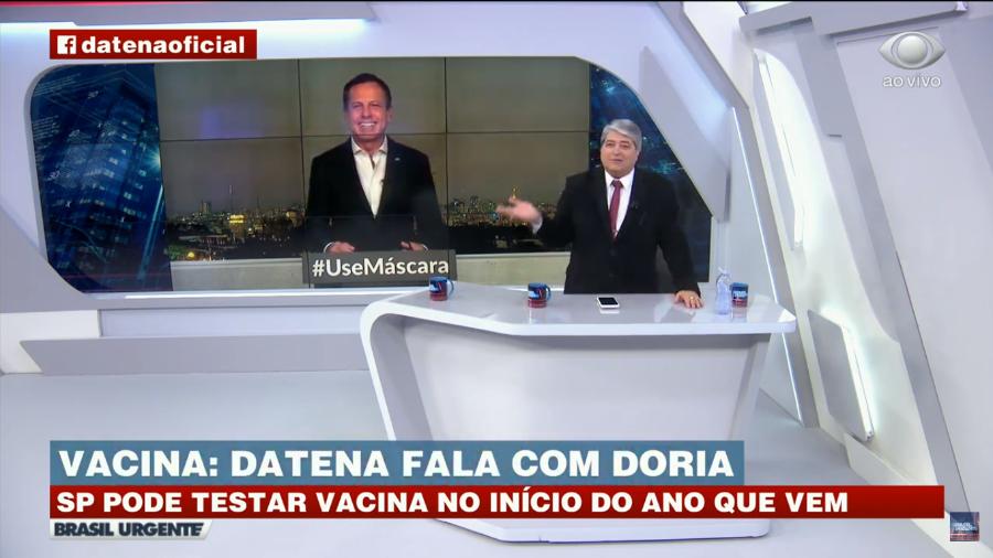 João Dória participou do programa Brasil Urgente com Datena (Foto: Divulgação)