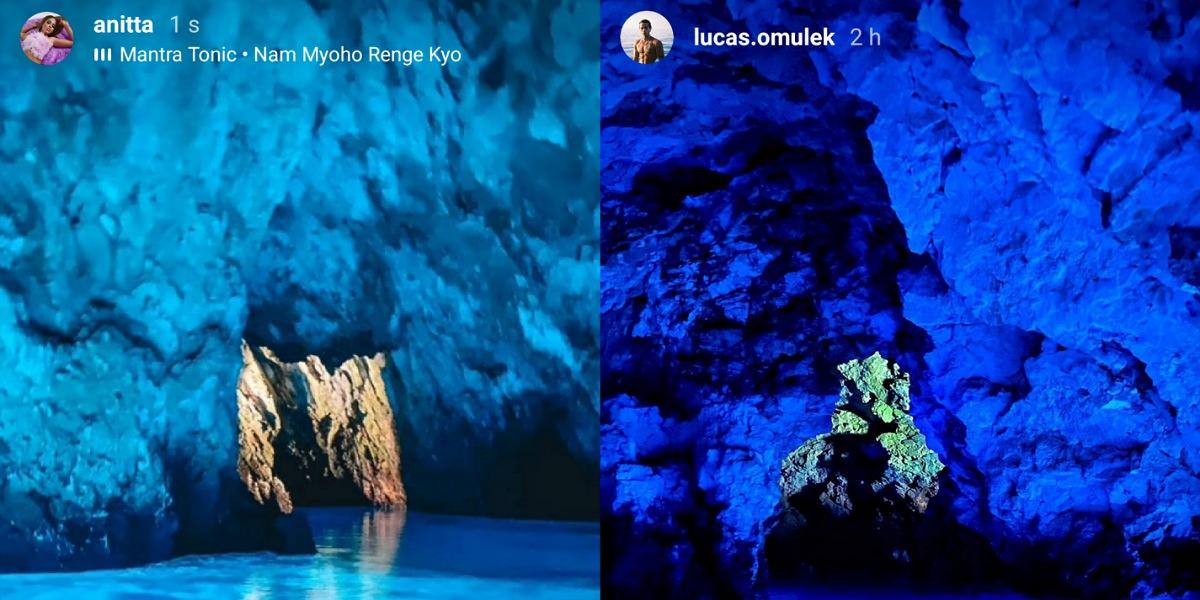 Anitta e Lucas Omulek fazem passeio de barco na Croácia (Foto: Reprodução/Instagram)